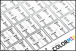 Valeurs colorimétriques au dos